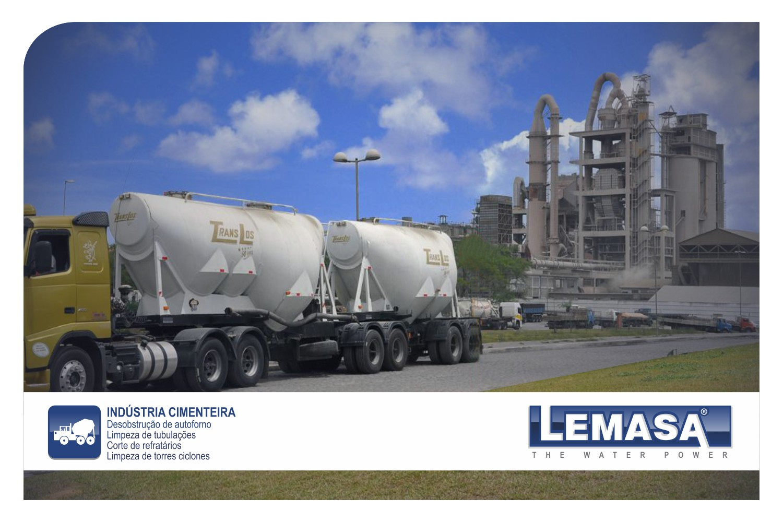 Bombas de alta presión (waterjetting) para Industria Cementera
